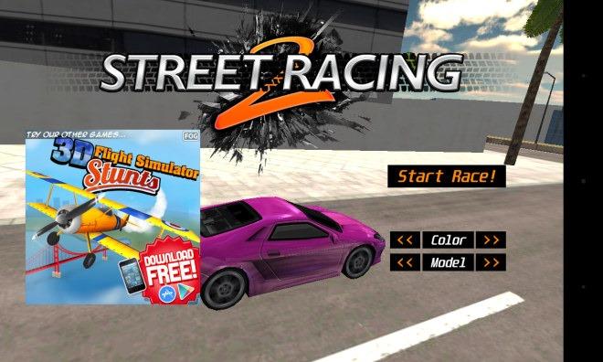 Street Racing 2_Menú principal