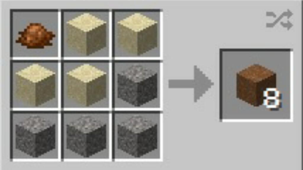 Concreto en Minecraft