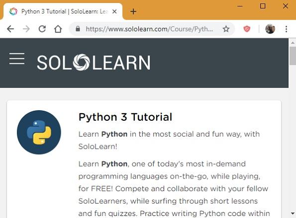 Tutoriales de Sololearn Python 3