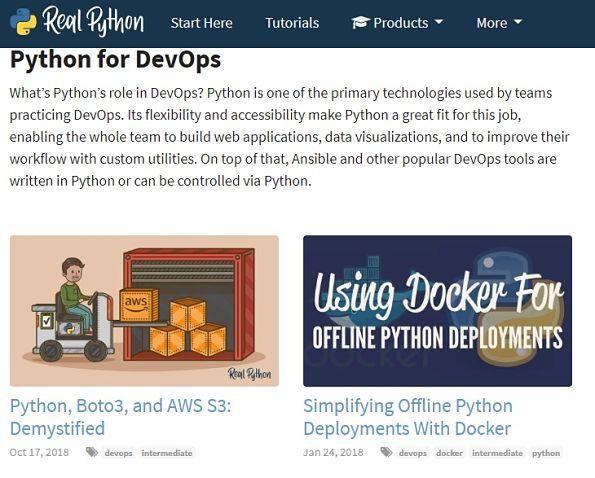 Blogs de Python Devops en Real Python