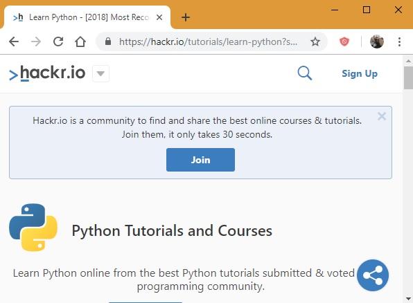 Tutoriales de Hackr.io Python