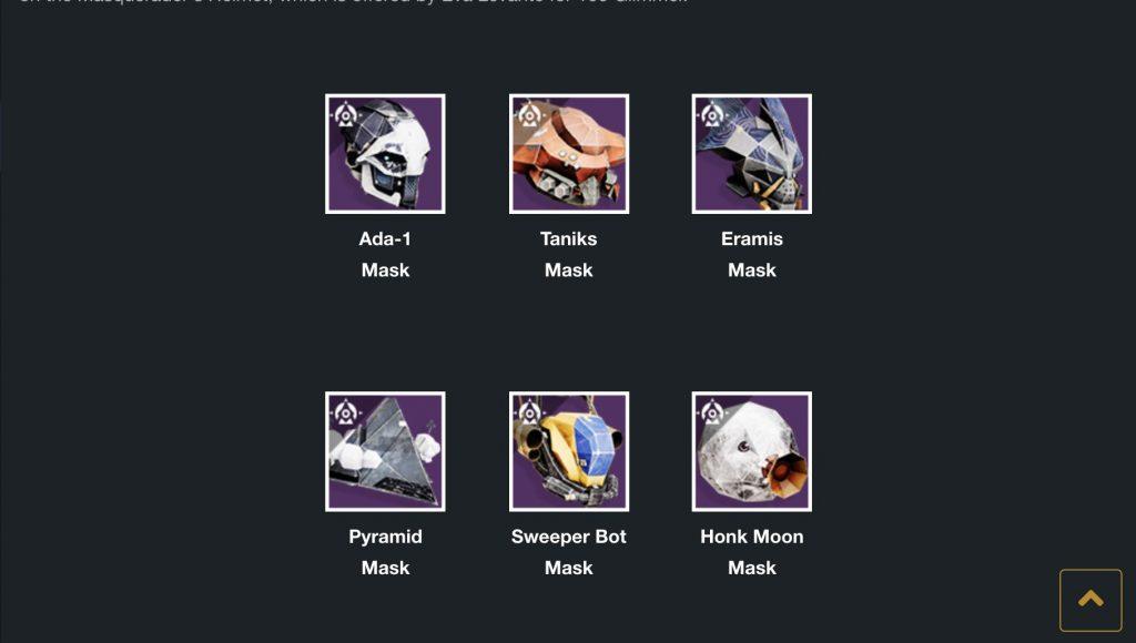 Máscaras de recompensas del Festival de los Perdidos