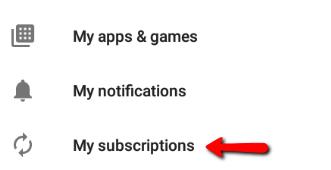 ¿Cómo cancelo mi suscripción a Android / Google Play Store?