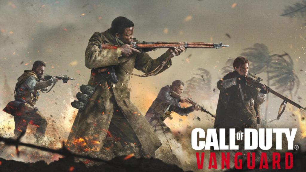 Personajes disparando armas en Vanguard