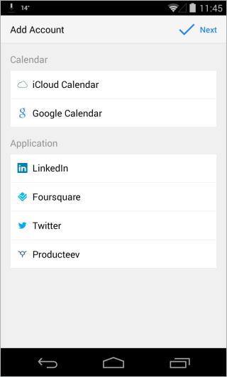 Sunrise Calendar_Account