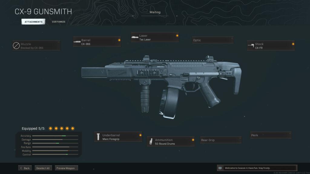 Mejor equipamiento Warzone cx-9