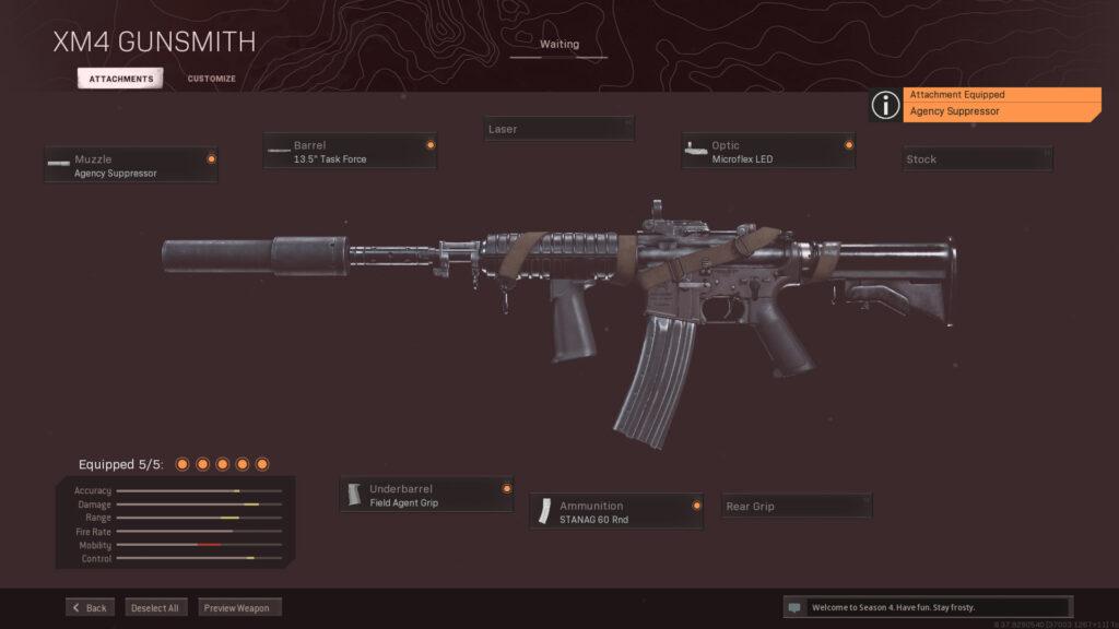 Mejor equipamiento de Warzone XM4