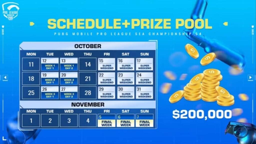 PUBG Mobile Pro League (PMPL) SEA Championship Season 4: Equipos, calendario y más