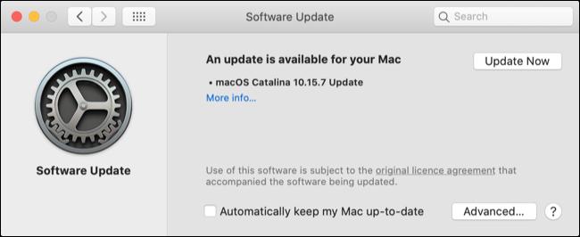 Atualize o Safari via atualização de software