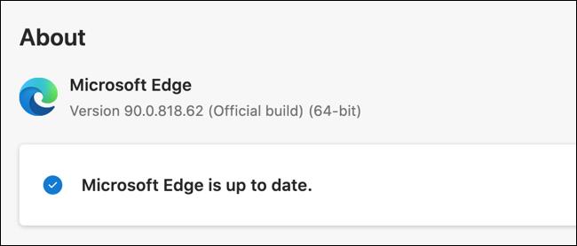 Atualize o Microsoft Edge