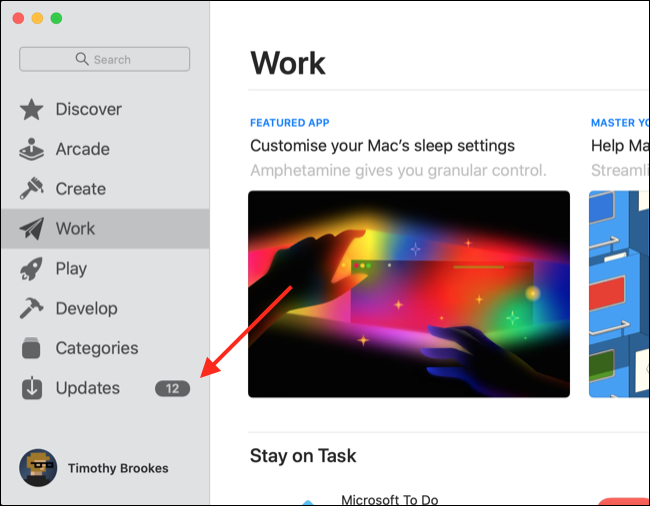 Atualize o Safari via App Store