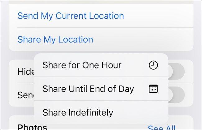 Compartilhando localização no iMessage
