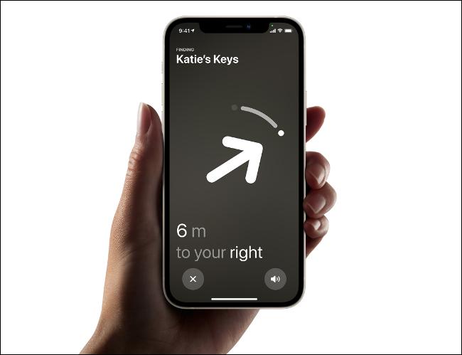Localizando um AirTag próximo com um iPhone