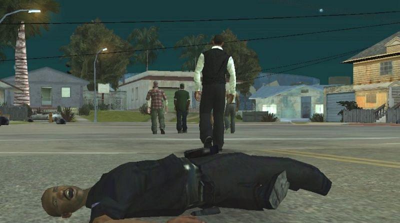 Os motins terminam com a morte de Frank Tenpenny (Imagem via GTA Wiki)