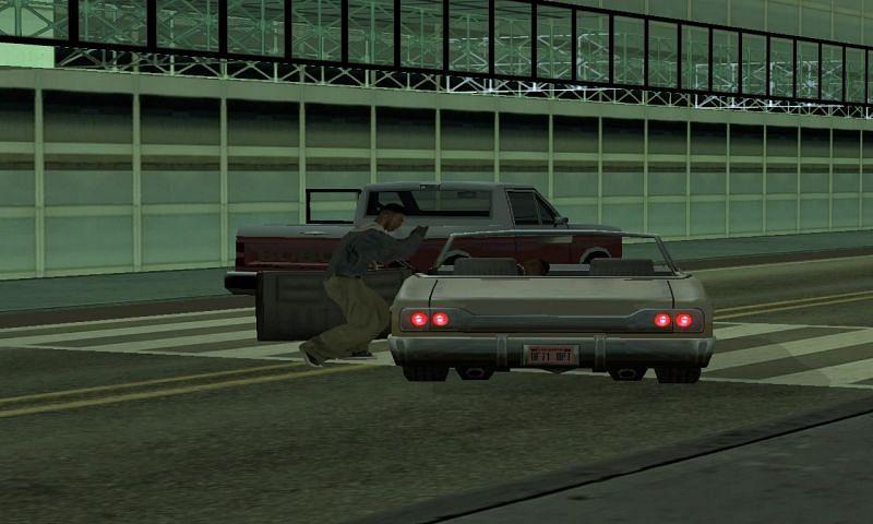 Os pedestres estão dispostos a roubar outros pedestres aleatórios durante o evento (Imagem via GTA Wiki)