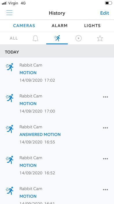 Você pode ver todos os seus clipes, dentro do aplicativo Ring.