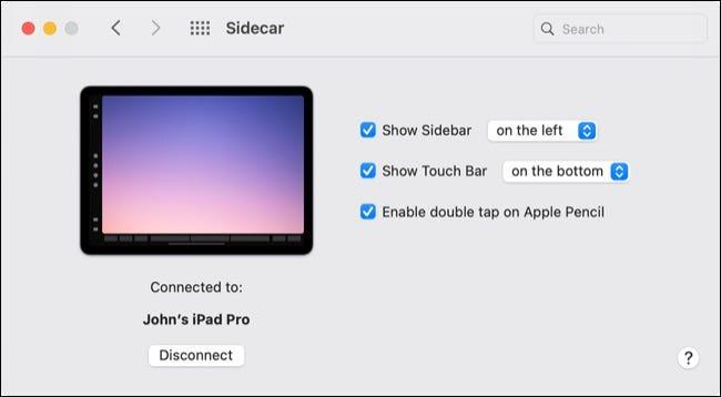 Configuração do Apple Sidecar em Big Sur